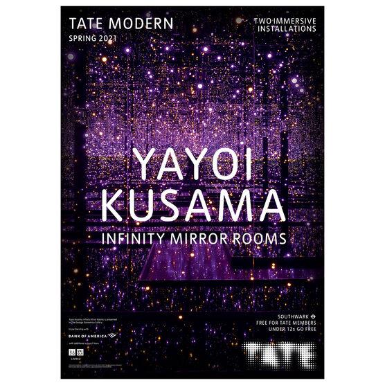 Yayoi Kusama Infinity Mirror Rooms exhibition poster