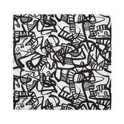Patrick Heron Monochrome silk pocket square