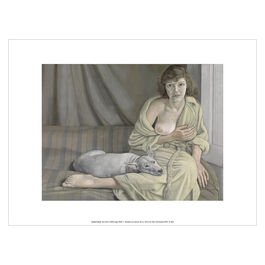 Lucian Freud Girl with a White Dog exhibition art print