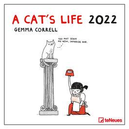 A Cat's Life by Gemma Correll 2022 wall calendar