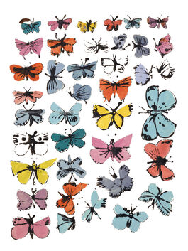 Andy Warhol: Butterflies (Many/Varied Colours)