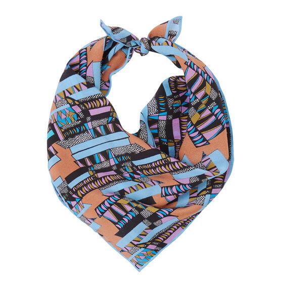 Bella Singleton blue and purple neckerchief