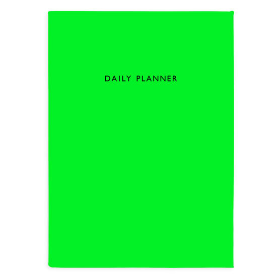 Neon green daily planner notebook