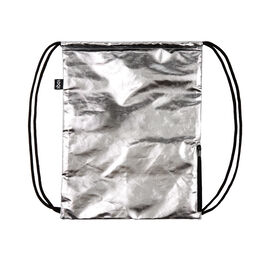 Loqi silver drawstring bag