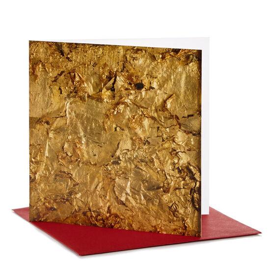 Robert Rauschenberg Gold Christmas Card (pack of 10)