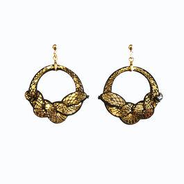 Ouroboros snake hoop earrings