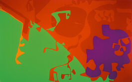 Patrick Heron: Big Complex Diagonal with Emerald and Reds