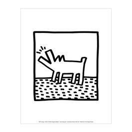 Keith Haring: Untitled (barking dog) mini print