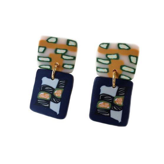 Feldspar Rock Candy Slice earrings