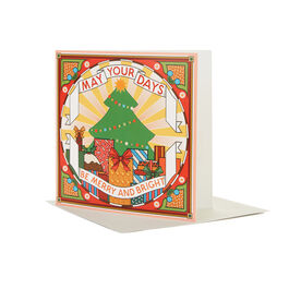 Rebecca Strickson: Be Merry Christmas card (pack of 6)