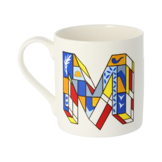 Alphabet of art mug - M