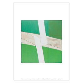Sandra Blow Green and White (unframed print)
