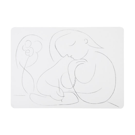 Picasso Woman with Flower Writing placemats