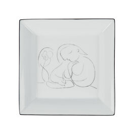 Picasso Woman with Flower Writing decorative plate