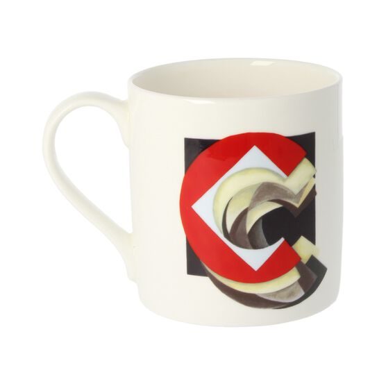 Alphabet of art mug - C