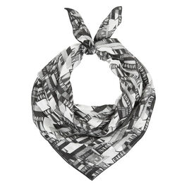 Bella Singleton monochrome scarf