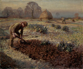George Clausen: A Frosty March Morning