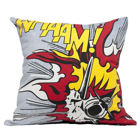 Lichtenstein Whaam! explosion cushion cover