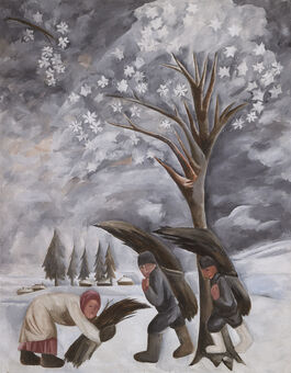 Goncharova: Winter, Gathering Firewood