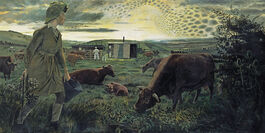Evelyn Dunbar: A Land Girl and the Bail Bull