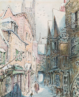 Helen Beatrix Potter: The Tailor and Simpkin Set Out for the Shop