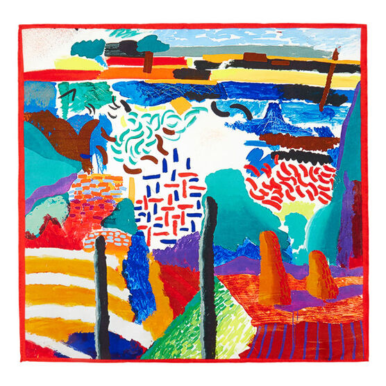 Hockney Canyon Painting scarf
