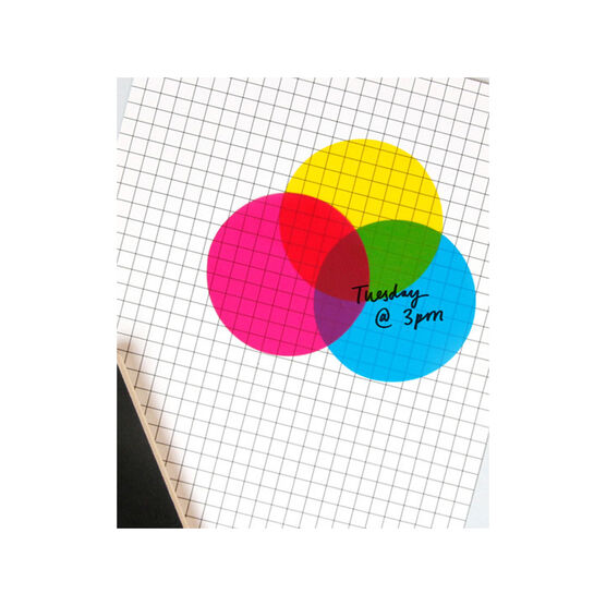 CMYK transparent sticky notes