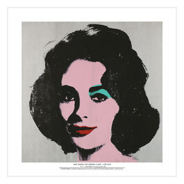 Andy Warhol: Silver Liz square exhibition poster