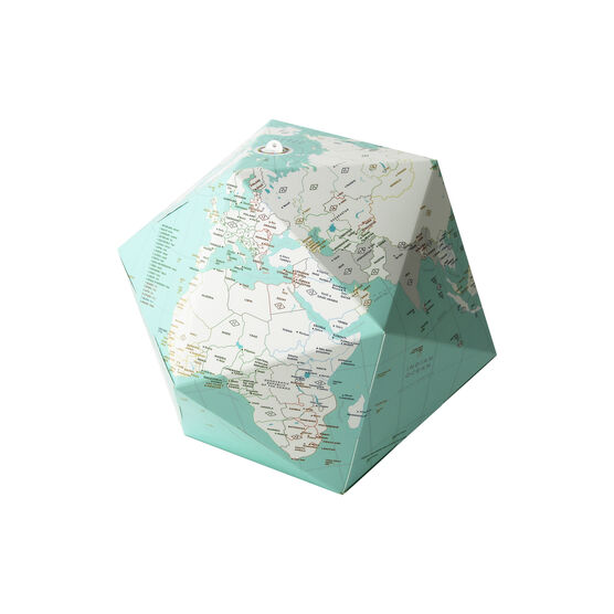 Time zone 3D world map