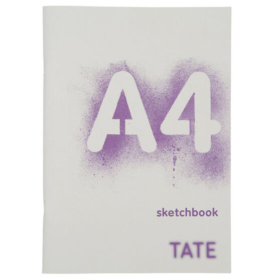 Purple A4 starter sketchbook