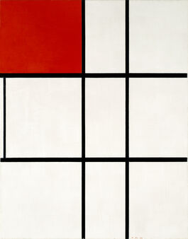 Piet Mondrian: Composition B (No.II) with Red
