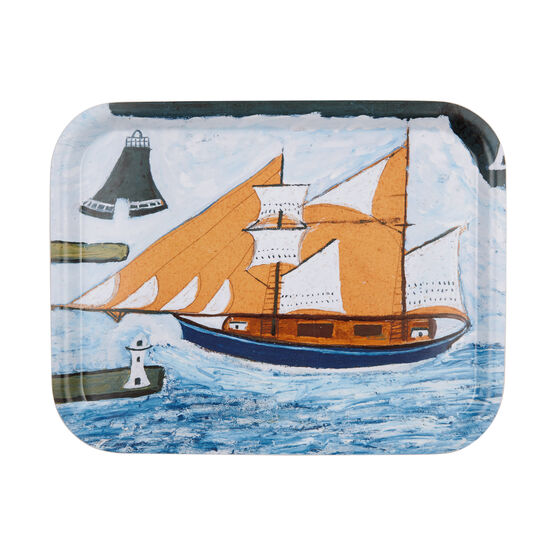 Alfred Wallis Blue Ship tray