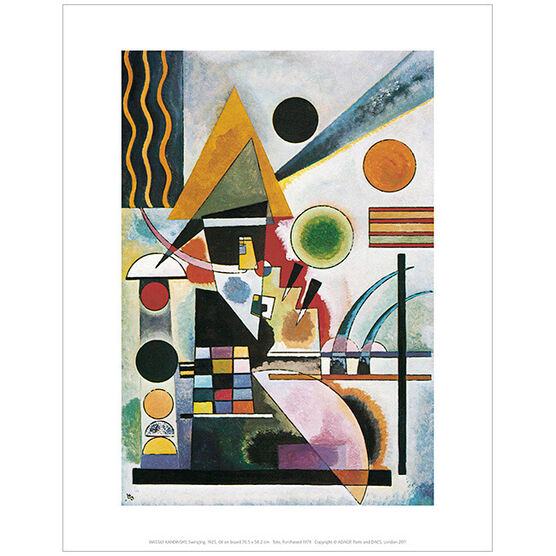 Kandinsky Swinging (mini print)