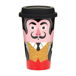 Salvador Dali ceramic travel mug