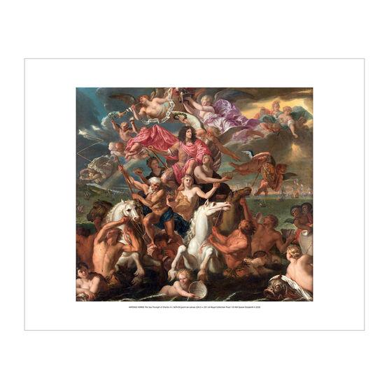 Antonio Verrio: The Sea Triumph of Charles II mini print