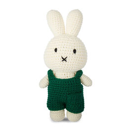 Miffy crochet toy with green dungarees