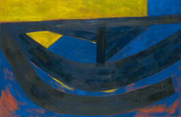 Barns-Graham: June Painting, Ultramarine and Yellow