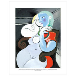 Pablo Picasso: Nude Woman in a Red Armchair mini print