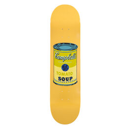Warhol: Campbell's Soup Can skateboard - yellow
