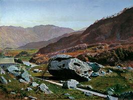 Atkinson Grimshaw: Bowder Stone, Borrowdale