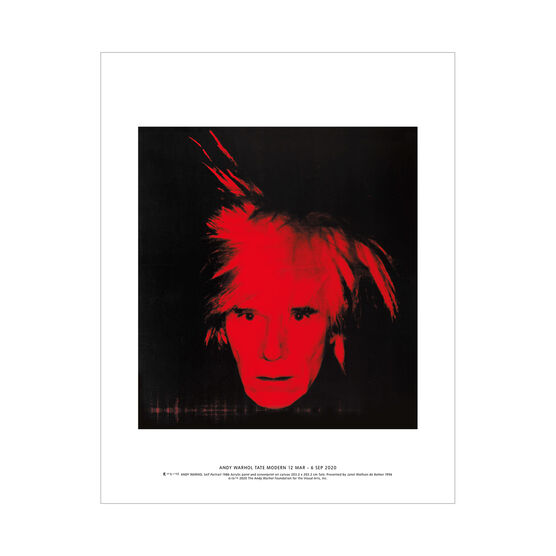 Andy Warhol: Self Portrait mini print