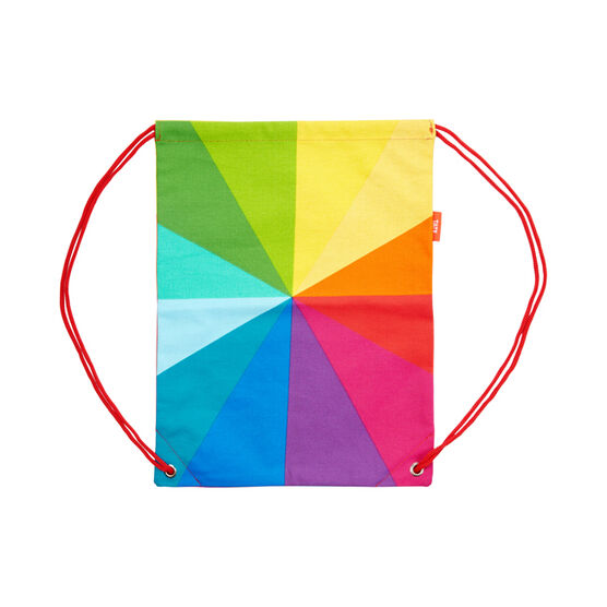 Colour wheel drawstring bag