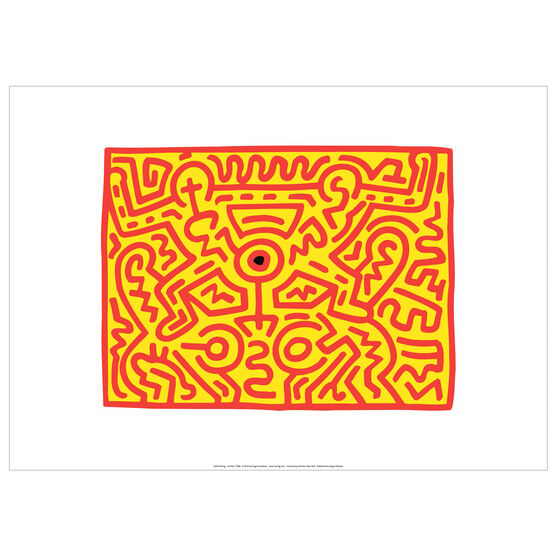 Keith Haring: Growing 3 exhibition poster