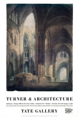 Turner and Architecture exhibition poster
