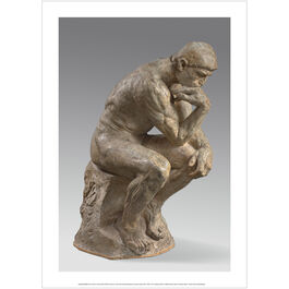 Auguste Rodin The Thinker exhibition poster