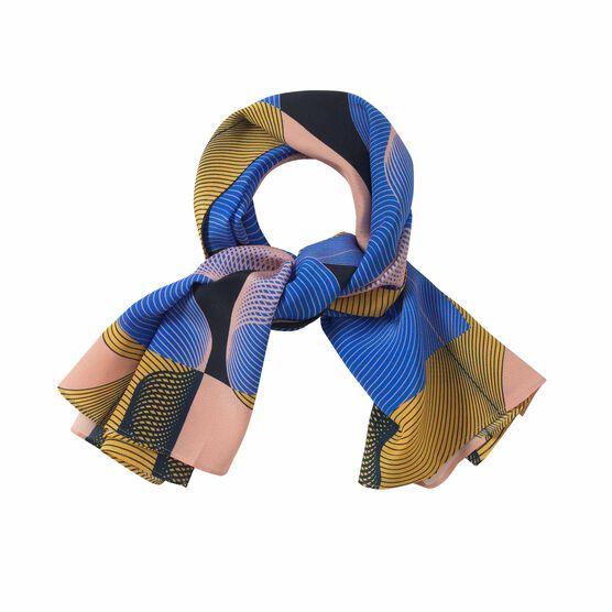1973 print silk scarf styled