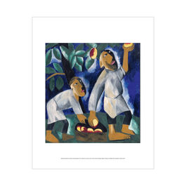 Natalia Goncharova: Peasants Picking Apples mini print