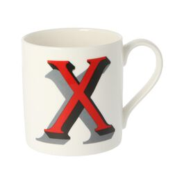 Alphabet of art mug - X