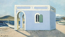 Nash: Blue House on the Shore