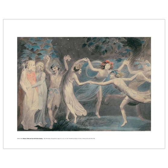 William Blake Oberon, Titania and Puck (mini print)